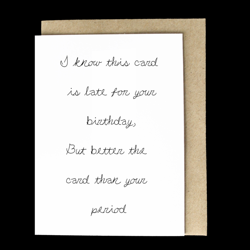 the 'late period' card