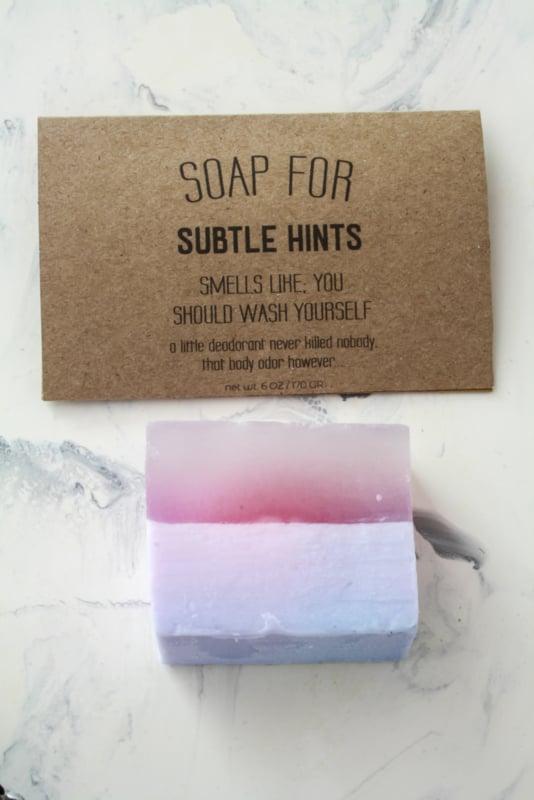 soap for subtle hints