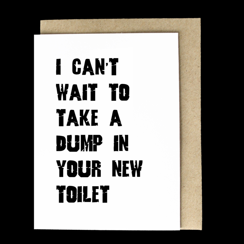 the 'happy new toilet' card