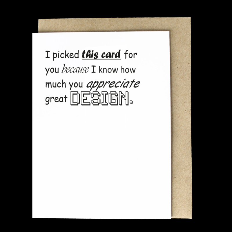 the 'graphic design' card