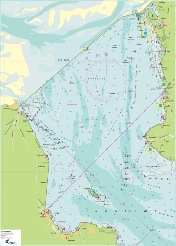 IJsselmeer en Wadden West , digitaal en papier