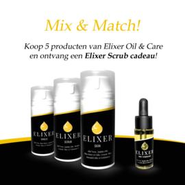 ACTIE : Mix & Match Elixer Oil & Care | GRATIS Scrub bij 5 producten