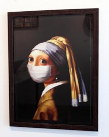 Poster Meisje met Mondkapje (zonder lijst)