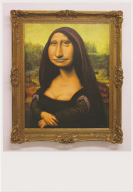 Ansichtkaart The secret behind the mysterious smile of Mona Lisa