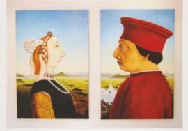 Ansichtkaart Dubbelportret