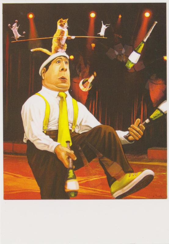 Ansichtkaart De jongleur