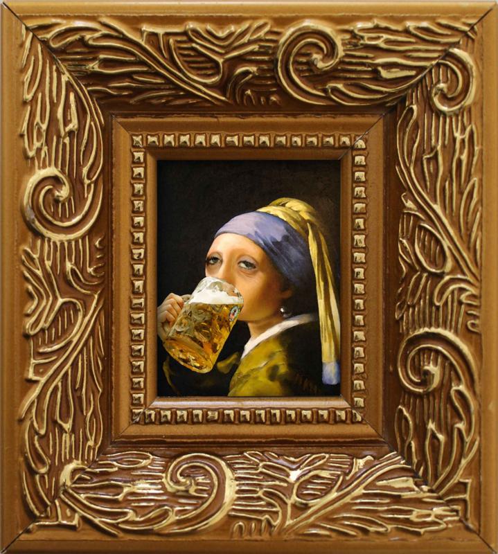 Meisje met bierpul