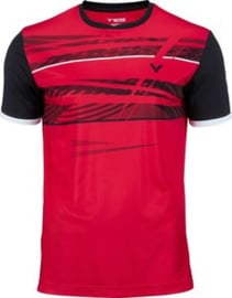 Victor T-shirt black/red 164