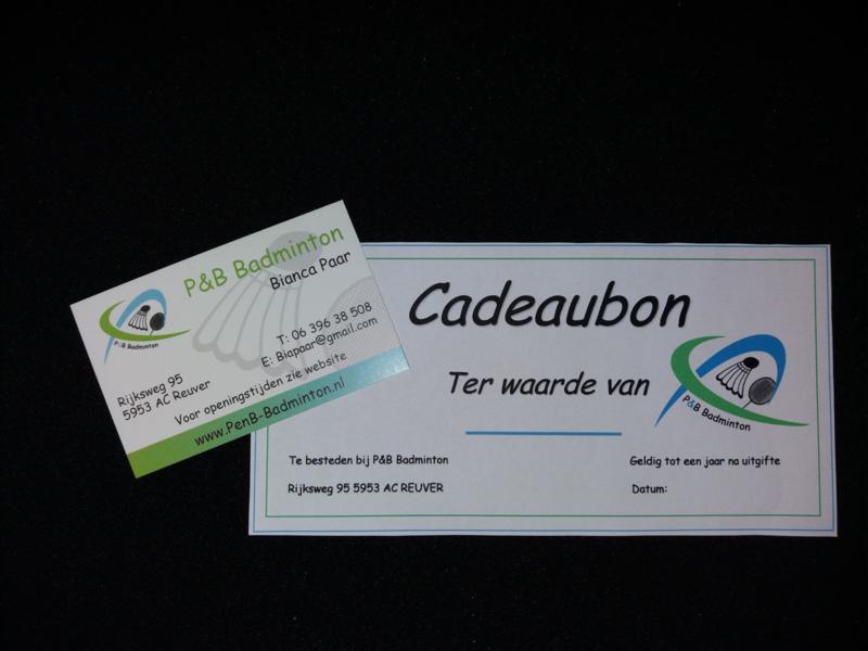 Cadeaubon P&B Badminton