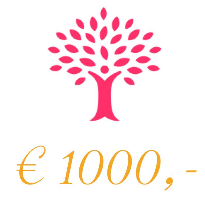 Sponsorbedrag 1000 euro