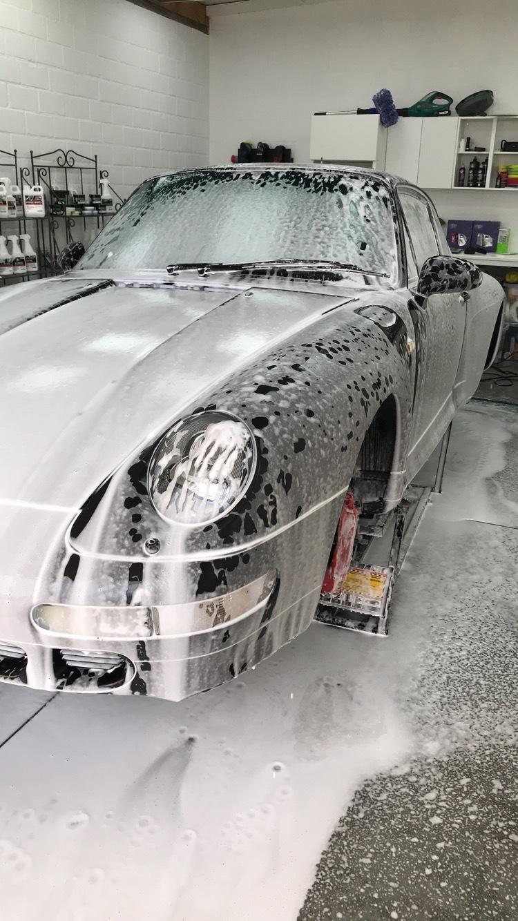 Porsche Carrera 4S pre wash