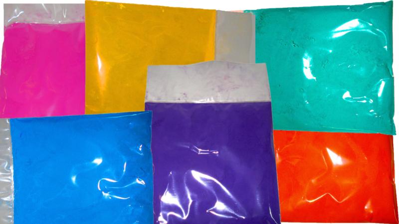 1200 + 200 GRATIS zakjes colorrun poeder in 7 kleuren