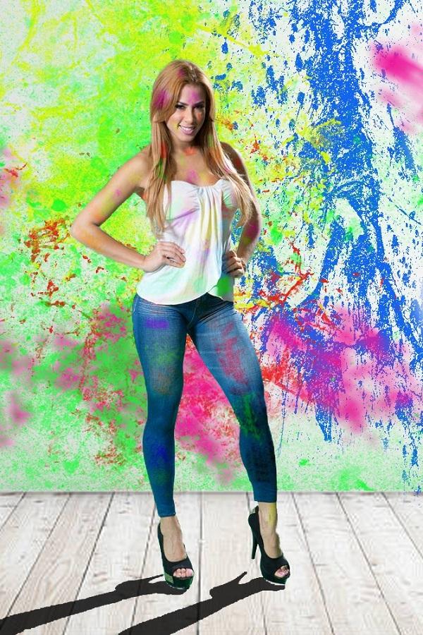Color Festival model in Holi-King Color Studio