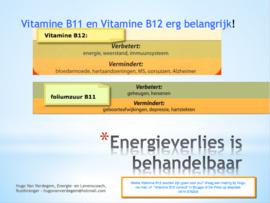 Energiemeting rond Vitamine  B12/ foliumzuur of negatieve emoties