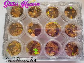 Gold Shapes set 12 mini jars ONLY 1 LEFT!!!!