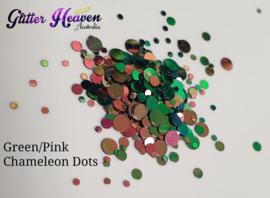 Green/Pink Chameleon Dots 6-7 gram