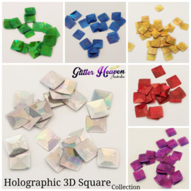 Holographic 3D Square collection 6x 10 gram