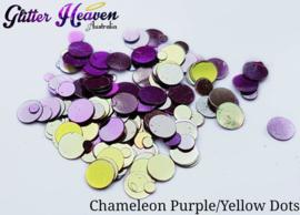 Purple/Yellow Chameleon Dots 6-7 gram