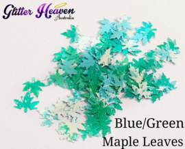 Blue/Green Maple Leaves 7-8 gram