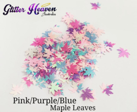 Pink/Purple/Blue Maple Leaves 7-8 gram