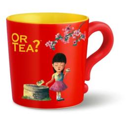 "Or tea? Mok ""Red"" met rvs zeef"