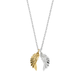 "Ketting ""Wings"" gold and silver plated"