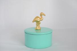 Noi Hamburg voorraadpot groen flamingo