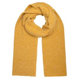 sjaal knitted okergeel