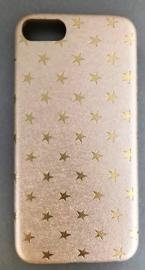 "I phone case ""Stars"" goud  6/S  7"