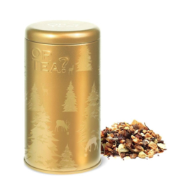 Or tea? Golden baked apple