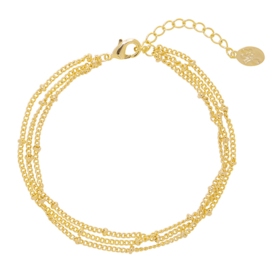 armband little dots goldplated