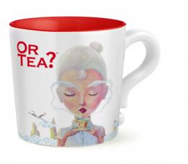Or tea? Mok wit met rvs zeef