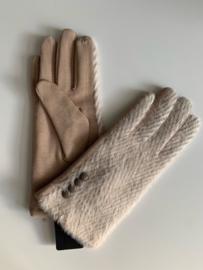 Handschoenen stripes beige