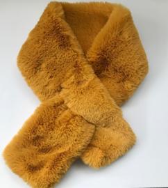 sjaal fake fur geel