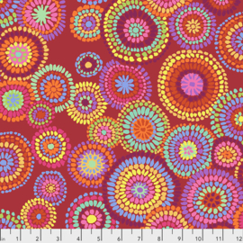 Kaffe Fassett Collective for Free Spirit Mosaic Circles PWGP176.RED February 2020