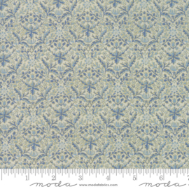Moda V & A William Morris Holiday Linen Indigo 7314 13M Metallic