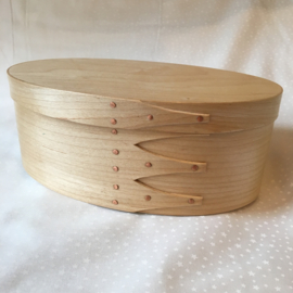 Shaker Box traditional oval box in Maple 21.5x14x8