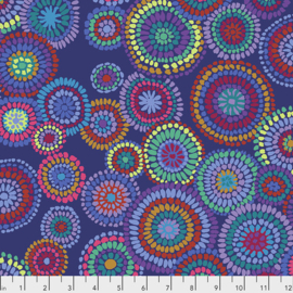 Kaffe Fassett Collective for Free Spirit Mosaic Circles February 2020 PWGP176.BLUE