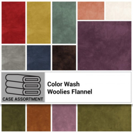 Woolies MASWOF-FCA Flannel Color Wash assortment 21FQ (45x55cm Amerikaanse FQ's)