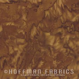 Stof Hoffman Batik Bali hand-dyed 3018-573 Pecan-bruin