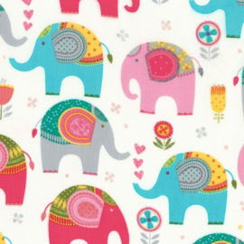 Timeless Treasures Fun C6108 Cream Elephants