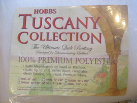 Hobbs Tuscany vulling/batting 100% polyester Queen: afmeting: 240cm x 270cm / 96inch x 108inch.