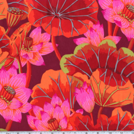 Kaffe Fassett Collective Lake Blossoms GP93 Red