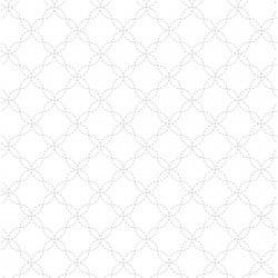 Adlico Maywood Studio Kimberbell Basics Lattice MAS8209-WW. white on white