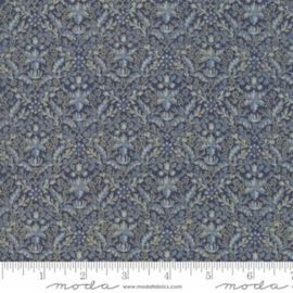 Moda V & A William Morris Holiday Indigo 7314 17M Metallic