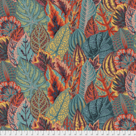 Kaffe Fassett Collective for Free Spirit Coleus PWPJ030.TEAL February 2020