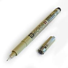 Q632581 Fineliner Sakura Pigma micron 005 zwart 0.2mm