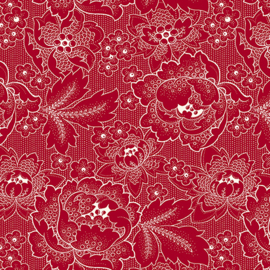 Adlico Colebrook Large Linear Floral 26010 R red