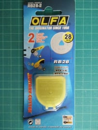 Olfa reservemesjes 28mm 2 stuks