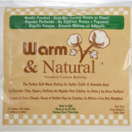 Warm & Natural batting/vulling 100% Cotton Full